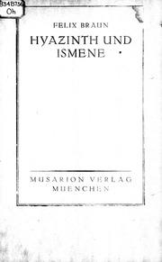 Hyazinth und Ismene microform : ein dramatisches Gedicht in fünf Aufzügen