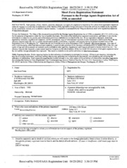 Brown Lloyd James Foreign Agents Registration Act filing