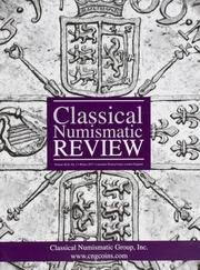 The Classical Numismatic Review: Vol. 42 No. 1