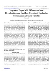 seed germination research paper
