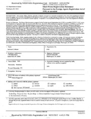 Patton Boggs, LLP Foreign Agents Registration Act filing ...