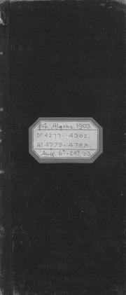 #4 Alaska, 1903, dr 4277-4302, hy 4779-4788, August 6-24, 1903
