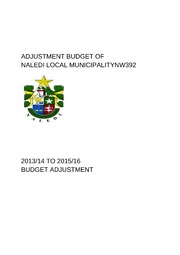 NW392 Naledi Adjustment Budget 2013-14