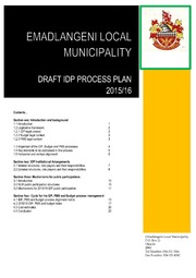 KZN253 FINAL PROCESS PLAN -MTREF TIMETABLE 15-16