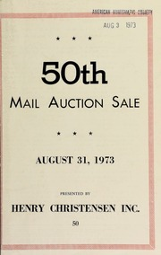 50th mail auction sale featuring selections of coins and medals of ancient Greece & Rome ... [08/31/1973]