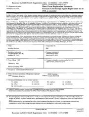 Fleishman-Hillard, Inc. Foreign Agents Registration Act filing