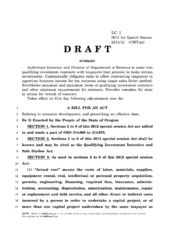 2012 Oregon Special Session Nike Bill Draft