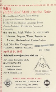 54th public and auction sale ... : consigned by the late Mr. Ralph Walker Jr. ... [04/23-24/1982]