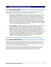 Veteran Homelessness: : A Supplemental Report to the 2010 Annual Homeless Assessment Report to Congress