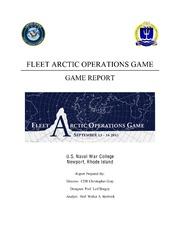 Fleet Arctic Operations Game Report