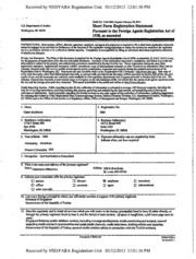 Fleishman-Hillard, Inc. Foreign Agents Registration Act filing