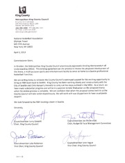 King County Council letter to David Stern