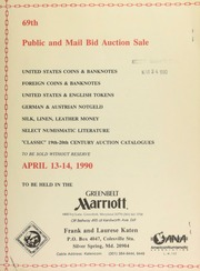 69th public and mail bid auction sale : United States coins & banknotes ... [04/13-14/1990]