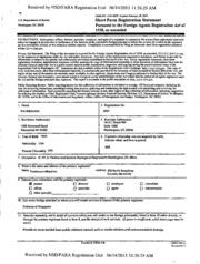 Fleishman-Hillard, Inc. Foreign Agents Registration Act ...