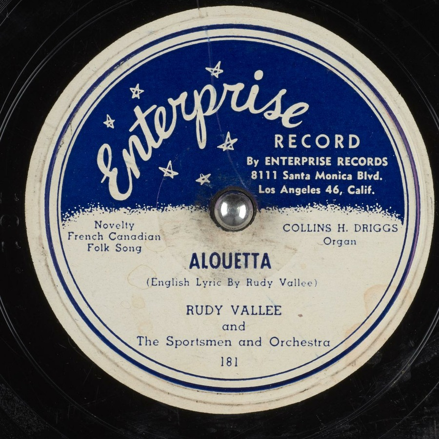 Alouetta : Rudy Vallee : Free Download, Borrow, and Streaming