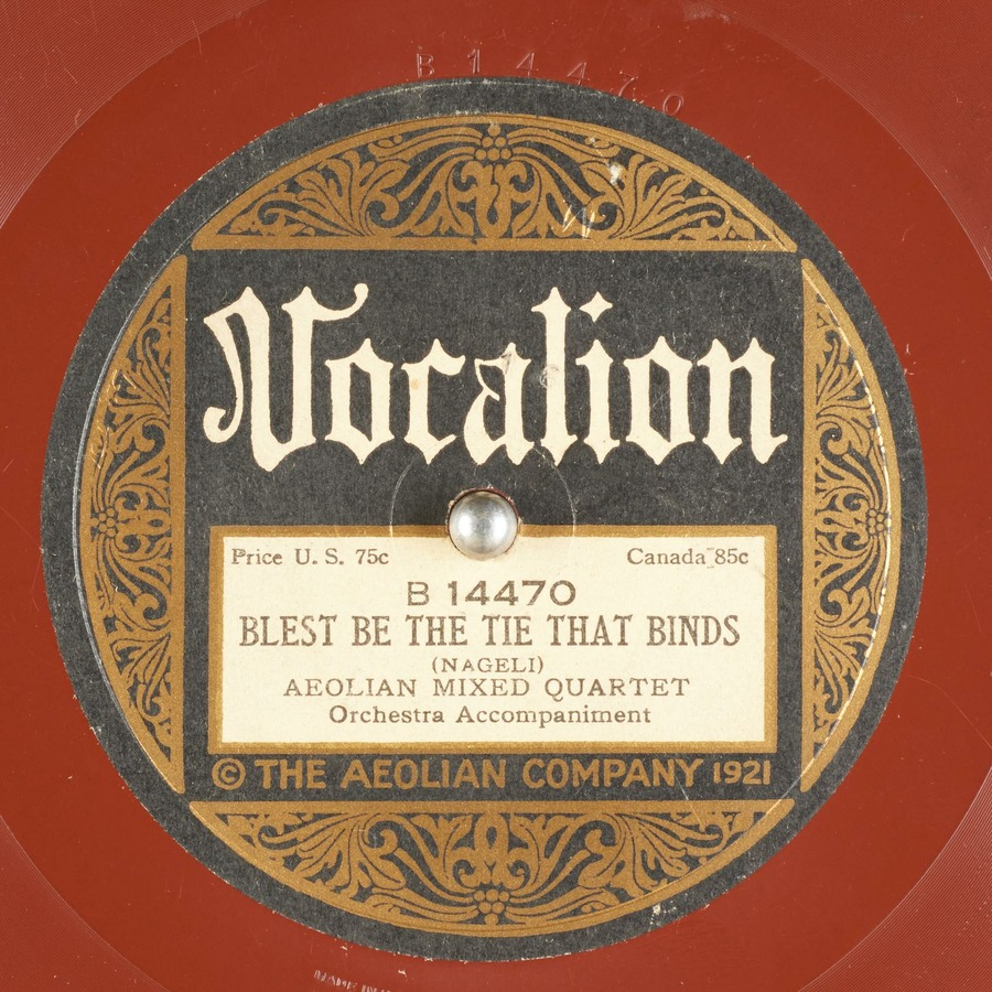 BLEST BE THE TIE THAT BINDS : Aeolian Mixed Quartet : Free