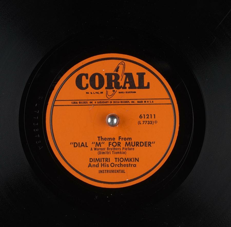 Image result for dimitri tiomkin m murder croal 78 rpm