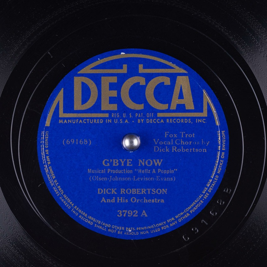 G'Bye Now : Dick Robertson And His Orchestra : Free ...
