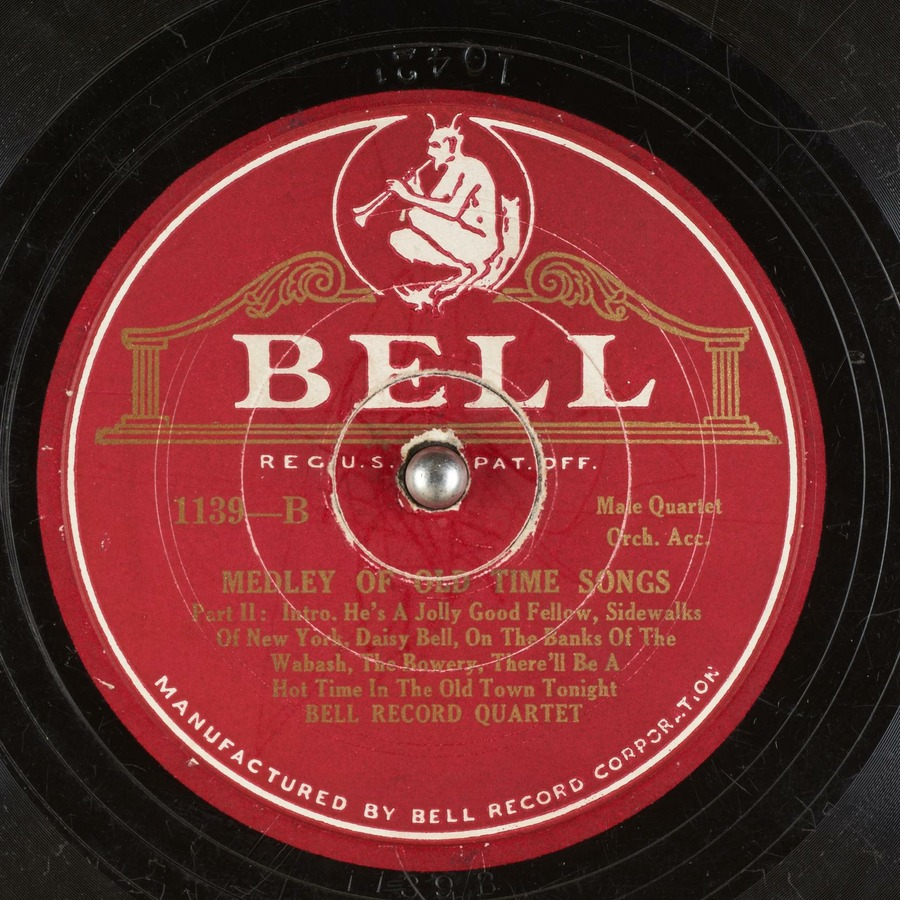 MEDLEY OF OLD TIME SONGS Part II : Bell Record Quartet