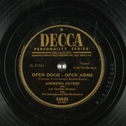 Open Door Open Arms Andrews Sisters With Lee Gordon