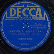 Soldiers Last Letter.Soldier S Last Letter Ernest Tubb Free Download Borrow