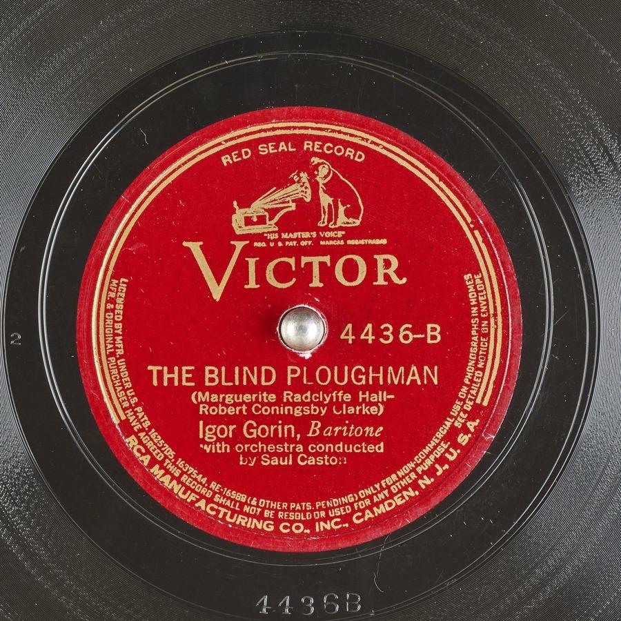 THE BLIND PLOUGHMAN : Igor Gorin : Free Download, Borrow