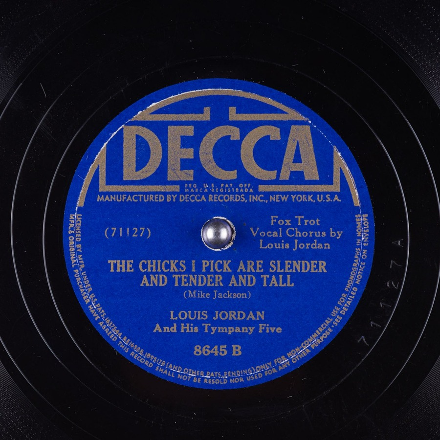 The Chicks I Pick Are Slender and Tender and Tall : Louis Jordan And His  Tympany Five : Free Download, Borrow, and Streaming : Internet Archive