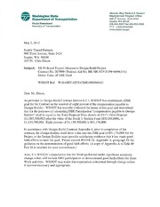 WSDOT letter to STP setting DBE participation goal for tunnel project