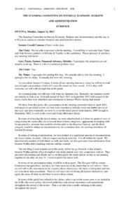 Board of Internal Economy 2013 08 12 Transcript
