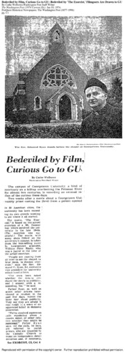 Bedeviled by The Exorcist, Filmgoers Are Drawn to Georgetown University