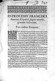 in processu francisci antonii espa241ol super iurisfir