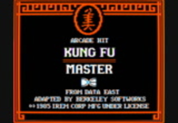 Kung Fu Master boot video