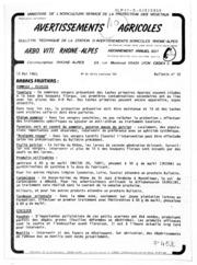 Avertissements Agricoles - Arboriculture fruitière et vigne - Rhone Alpes - 1983 - 10