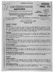 Avertissements Agricoles - Arboriculture fruitière et vigne - Rhone Alpes - 1986 - 19