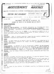 Avertissements Agricoles - Arboriculture fruitière et vigne - Rhone Alpes Bas Vivarais - 1983 - 17