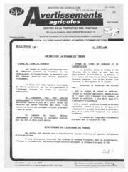 Avertissements Agricoles - Cultures légumières - Bretagne - 1986 - 8