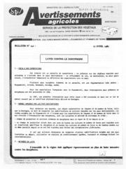 Avertissements Agricoles - Cultures légumières - Bretagne - 1987 - 4