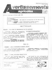 Avertissements Agricoles - Grandes cultures - Alsace - 1986 - 19