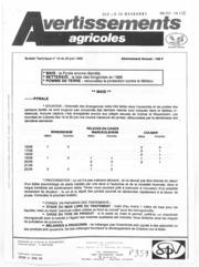 Avertissements Agricoles - Grandes cultures - Alsace - 1989 - 16