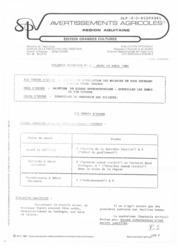 Avertissements Agricoles - Grandes cultures - Aquitaine - 1985 - 8