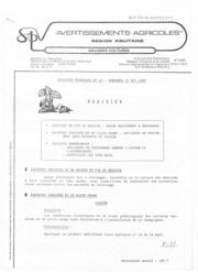 Avertissements Agricoles - Grandes cultures - Aquitaine - 1986 - 12