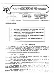 Avertissements Agricoles - Grandes cultures - Aquitaine - 1987 - 4