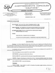 Avertissements Agricoles - Grandes cultures - Aquitaine - 1989 - 3