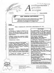 Avertissements Agricoles - Grandes cultures - Auvergne - 1996 - 10