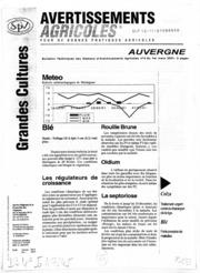 Avertissements Agricoles - Grandes cultures - Auvergne - 2001 - 4