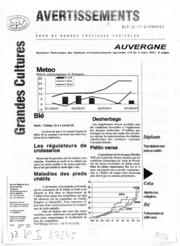 Avertissements Agricoles - Grandes cultures - Auvergne - 2001 - 5