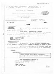 Avertissements Agricoles - Grandes cultures - Auvergne Limousin - 1985 - 10