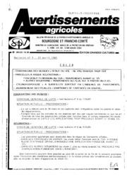 Avertissements Agricoles - Grandes cultures - Bourgogne Franche comte - 1985 - 9