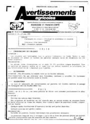 Avertissements Agricoles - Grandes cultures - Bourgogne Franche comte - 1989 - 13