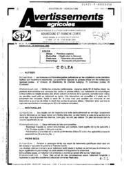 Avertissements Agricoles - Grandes cultures - Bourgogne Franche comte - 1989 - 22